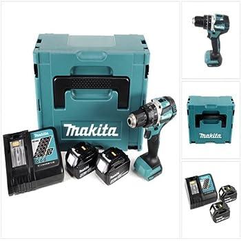 2 batterie e caricabatterie a batteria 14,4 V DHP448RMJ in confezione MAKPAC Trapano avvitatore a percussione incl Makita