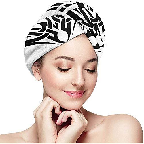 N/A Tribal Arc Concept_6 Anti-frisottis Séchage Rapide Magic Head Turban Hat Bonnets de Douche