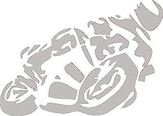Autoaufkleber Motorrad Auto Aufkleber 24x18cm (Silber)