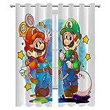 SSKJTC Cortinas aisladas de bloqueo para dormitorio y apartamentos, Super Mario Bros Play Together Art impresas, para sala de estar, dormitorio, cortinas de 72 x 84 pulgadas