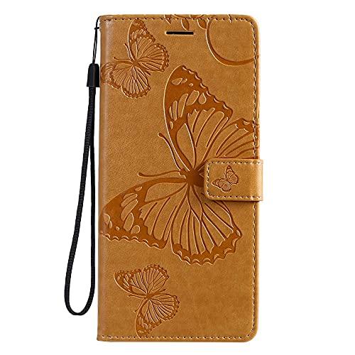 HuangML Capa de couro para Nokia 7.1 Plus/8.1/x7 Capa carteira de couro PU de alta qualidade estilo moderno flip TPU à prova de choque capa de couro compatível com Nokia 7.1 Plus/8.1/x7 (amarelo)