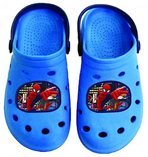 Spiderman Clogs/Hausschuhe in dunkelblau, Verschiedene Größen, Größe:24/25, Farbe:Dunkelblau