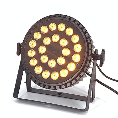 LED Par Lights Stage Lights 24LEDs 432Watts 6in1 RGBWA UV Par Lights Strict Testing Uplights with Sound Activated DMX512 Control Bright DJ Par Light for Stage Party Club Disco Wedding Events