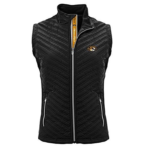 Levelwear NCAA Missouri Tigers Adult Women Transition Team Script Vest,Small,Black