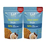 Lo! Foods - Diabetic Snacks Bhujia (140 g X Pack of 2)   50% Lower Sugar Spike   100% More Fibre & Protein   Sugar Control Diabetes Care Low GI Snacks   Dietitian Recommended Diabetes Food Products
