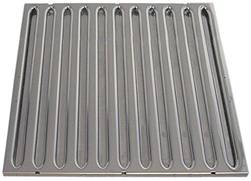 Vlambeschermingsfilter voor afzuigkappen A breedte 500mm hoogte 500mm CNS DIN 18869-5 dikte 20mm 18869-5