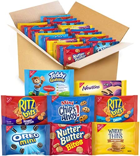 OREO Mini CHIPS AHOY Mini Nutter Butter Bites RITZ Bits Cheese RITZ Bits Peanut Butter Teddy product image