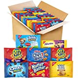 This package contains 48 individually wrapped snack packs of cookies and crackers in a variety of flavors like peanut butter or cheese crackers, or fruit, vanilla, or chocolate cookies 6 bags each - OREO Mini Chocolate Sandwich Cookies, CHIPS AHOY! c...