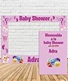 Photocall de Baby Shower Niña 110x80cm  Divertido y económico  Detalle de Baby Shower  Hazte Unas Fotos Divertidas en el Baby Shower de tu Hija  Personalizable