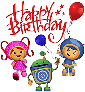 Team Umizoomi - Birthday - Geo Milli Bot - For Light-Colored Materials - Iron On Heat Transfer 7