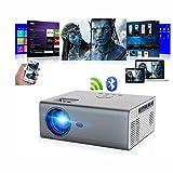 Projecteur Bluetooth Projecteur portatif natif sans Fil à Del de 8000 lumens 720p...