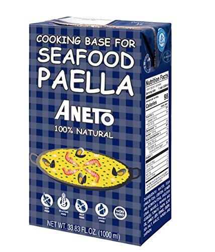 Aneto Caldo Para Paella - Brühe Für Paella Mit Fisch Und Meeresfrüchte, 1er Pack (1 x 1 l)