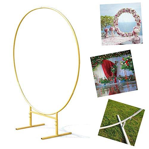 LPAN Anello Rotondo per Sfondo Decorativo per Feste Cerchio per Arco Fai-da-Te, Vernice Dorata O Bianca 2 M Oro