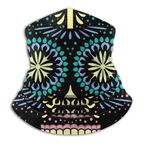 NA Neck Scarf Santa Muerte Skull Halloween Vector Illustration 26cm X 30cm Headwear Head Wrap Tube Multi Functional