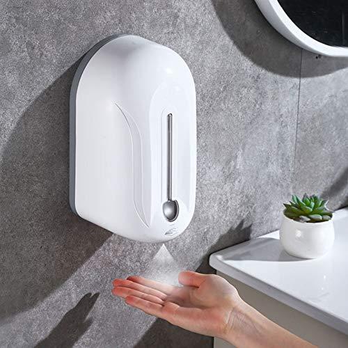 MZYKA Wand- automatische Induktion Alkohol und Desinfektion Wasserspender für Office Home Schule, Handspritzen Desinfektion Maschine, Weiss,1100ml
