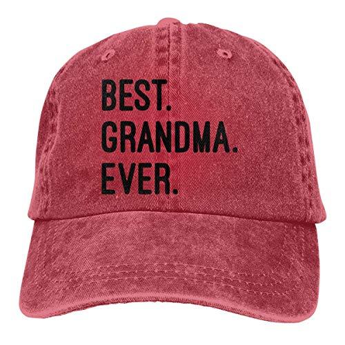 Hoswee Baseballmütze Hüte Kappe Beste Oma aller Zeiten Unisex Custom Jeans Hip Hop Cap Verstellbare Baseballkappe