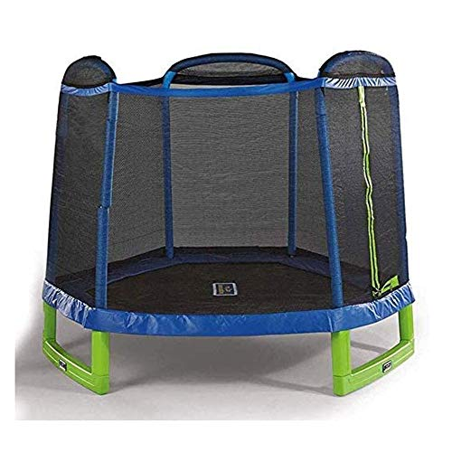 Review Of Outdoor Equipment Children's Trampoline Home Indoor Hexagonal Spring Jumping Bed with Prot...
