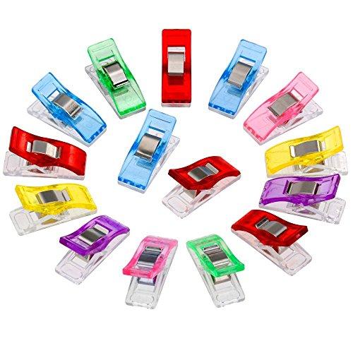 Bluelans® Lot de 20 pinces à coudre en plastique - 6 couleurs - 27 x 10 mm - Accessoire de couture
