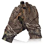 Camo Hunting Gloves Lightweight Pro Anti-Slip Shooting Gloves Waterproof Warm Glove with Trigger Finger Outdoor Hunting Camouflage Gear Archery Accessories (Camo-L)