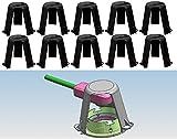 Trango TG-ASH Lot de 10 cloches de protection contre la chaleur pour spots LED/halogènes encastrables