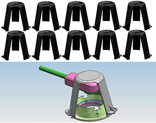 Trango 10er Pack Abstandshalter Hitzeschutz TG-ASH für LED Halogen Einbauleuchten Einbaustrahler Einbauspots