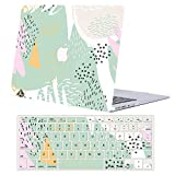 AJYX Plastic Hard Shell Case and Keyboard Cover for MacBook 12 inch with Retina Display (Model A1534, Release 2017 2016 2015),Green Painting
