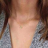 Collar con Letras del Alfabeto para Mujer, Collar con Nombre Inicial en minúscula pequeño, Cadena...