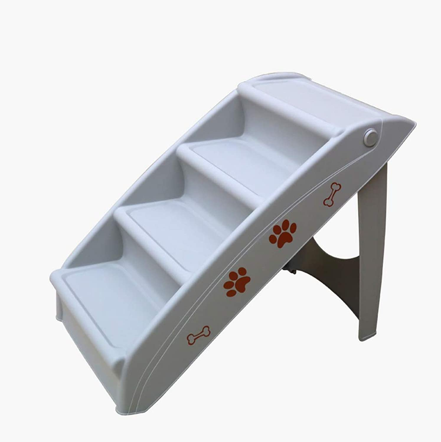 Pet Stairs ABS Foldable 4 Steps Stairs Dog Cat Steps Pet Ramp Ladder Lightweight Travel Portable (color   B)
