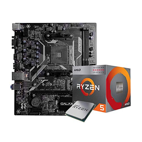 AMD Ryzen53400GDesktop Processor4Cores up to 4.2GHzBundledwithGalax A320M Motherboard