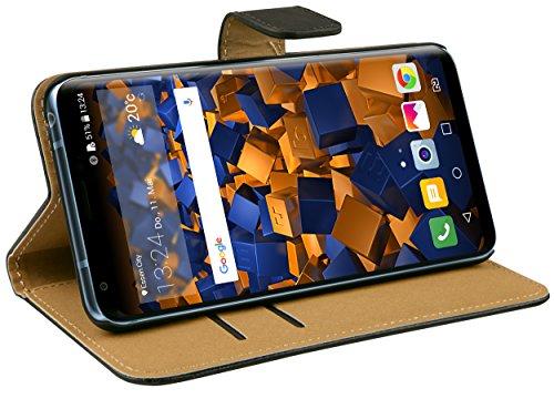 mumbi Tasche Bookstyle Hülle kompatibel mit LG V30 / V30S ThinQ Hülle Handytasche Hülle Wallet, schwarz