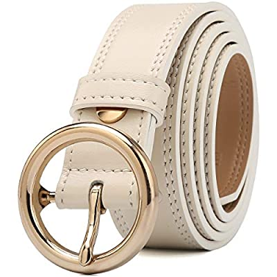 CARDANRO Women's Genuine Leather Dress Belt with Metal Buckle for Business and Casual, Elegant Gift Box