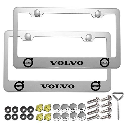 Carsport 2 Pcs Premium Aluminum Alloy License Plate Frame fit BMW, for BMW Tag License Plate
