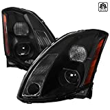 Compatible With Nissan Maxima Black Clear Projector Headlights Pair