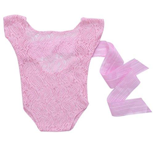 FATTERYU Baby-Strampler für Neugeborene mit Spitze, Fotografie-Requisite, Babyfoto-Zubehör Puder