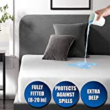 Waterproof Mattress Pad Protector Queen 60x80 Breathable Vinyl Free Noiseless Deep Pocket Bed Smooth Jersey Mattress Pad Cover Fully Fitted 8-20 Inches Ultra Thin