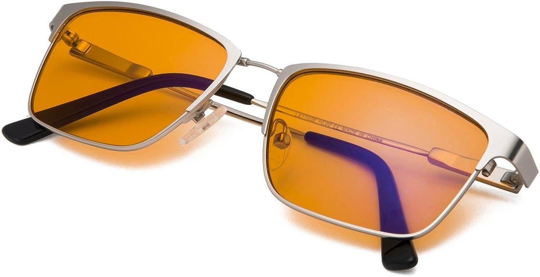 bluee Light Blocking Glasses Women  Amber orange Nighttime Sleep Readers Men  Flexible Memory Square Frame