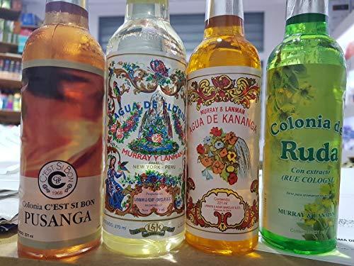 4 en 1, Qaromas Lote Agua Florida Original, Ruda, Pusanga y Kananga