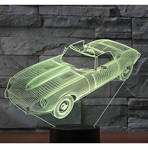 Sanzangtang Led-nachtlampje, 3D-vision-septkleuren, afstandsbediening, nachtlampje, auto, sport, voor de decoratie van het huis, aansteker van visuele effecten