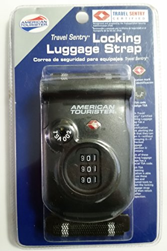 Locking Luggage Strap American Tourister Travel Sentry 3 Number Combination