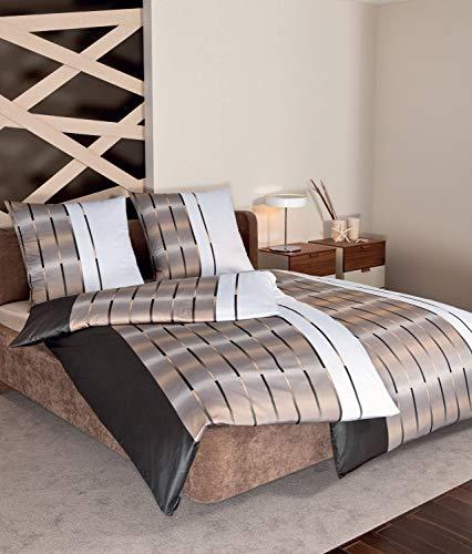 Janine Design Interlock Feinjersey Bettwäsche Carmen S 55026-07 Kaffee 1 Bettbezug 135 x 200 cm + 1 Kissenbezug 80 x 80 cm