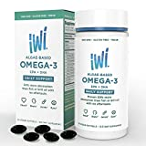 Omega3 Oil Daily Support EPA DHA Doctor Recommended Algae Oil Soft Gel Capsules 375 Mg 30 Day Supply Better Absorption, Vegan, Non GMO Healthier Than Fish Supports Brain and Heart Health