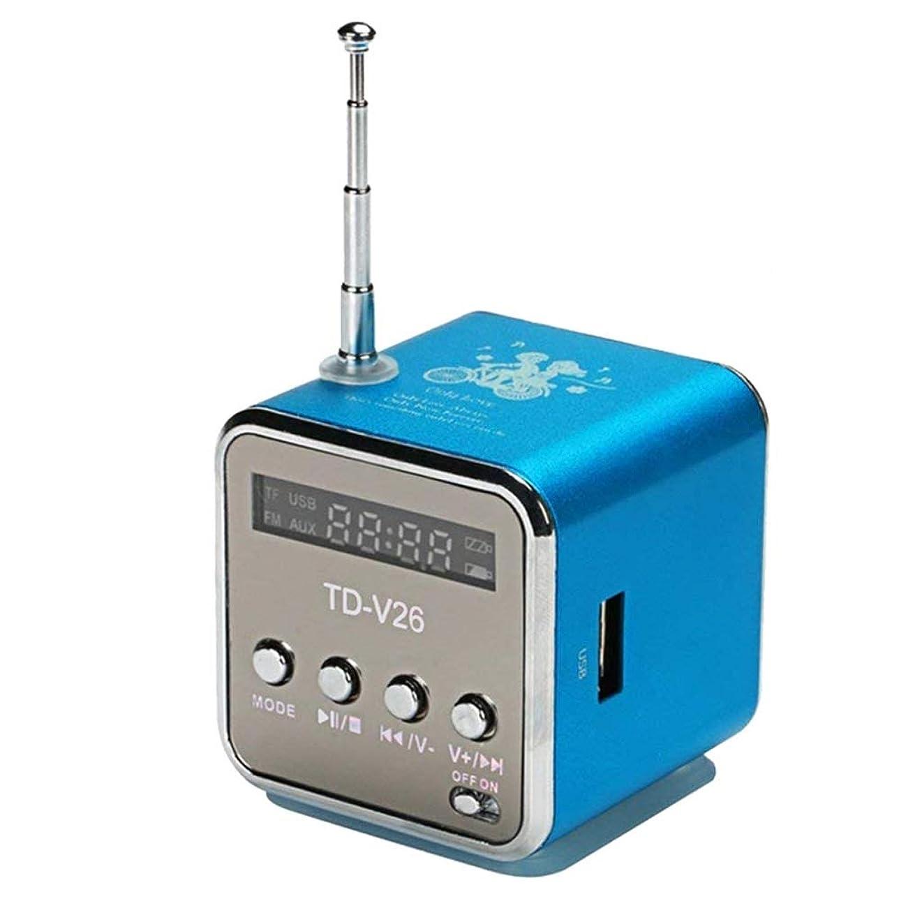 測る納屋腸大声で話す優秀なレセプションバックライトスリープラジオサポートマイクロTFカードとバンドポータブルラジオ受信機 (Color : Blue, サイズ : Standard)