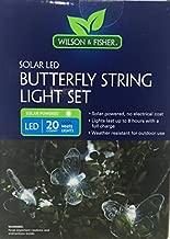Wilson & Fisher SOLAR LED String Light Set - 20 White Lights (ButterFly)