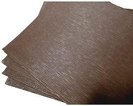 Textiles Plus PVC BRW Placemat Set, Brown