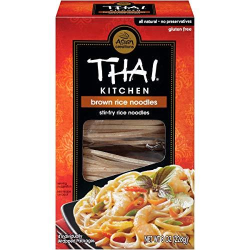 Thai Kitchen Gluten Free Brown Rice Noodles, 8 oz (Pack of 6)
