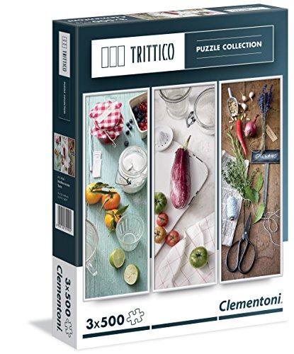 Clementoni - Puzzle tríptico, 3 x 500 Piezas, diseño Mediterranean Taste (393084)