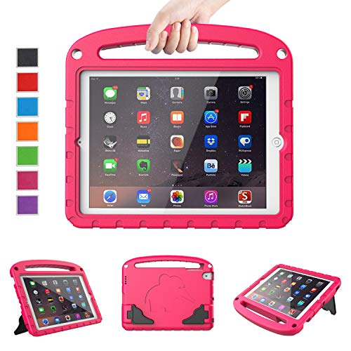 "LTROP Kids Case for Apple iPad 4 3 2 - Light Weight Shock Proof Convertible Handle Stand Case for iPad 9.7"" iPad 4th Generation/iPad 3rd Generaion/iPad 2 with Retina Display - Hot Pink"