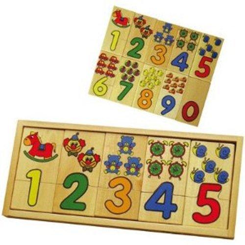 Danne Malin SM58469 puzzel, houten speelgoed, cijfers en hoeveelheden