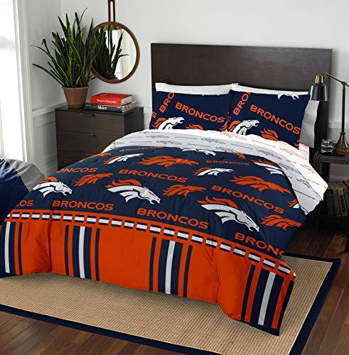NFL Denver Broncos 'Rotary' Full Bed In a Bag Set, blue