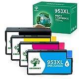 GREENSKY Cartucho de Tinta Compatible de Repuesto para HP 953XL para HP OfficeJet Pro 7720 7730 7740 8210 8218 8715 8718 8725 8728 8730 8740 8710 8720 (4 Paquetes)